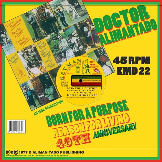 Dr  Alimantado – Born For A Purpose / Reason For Living