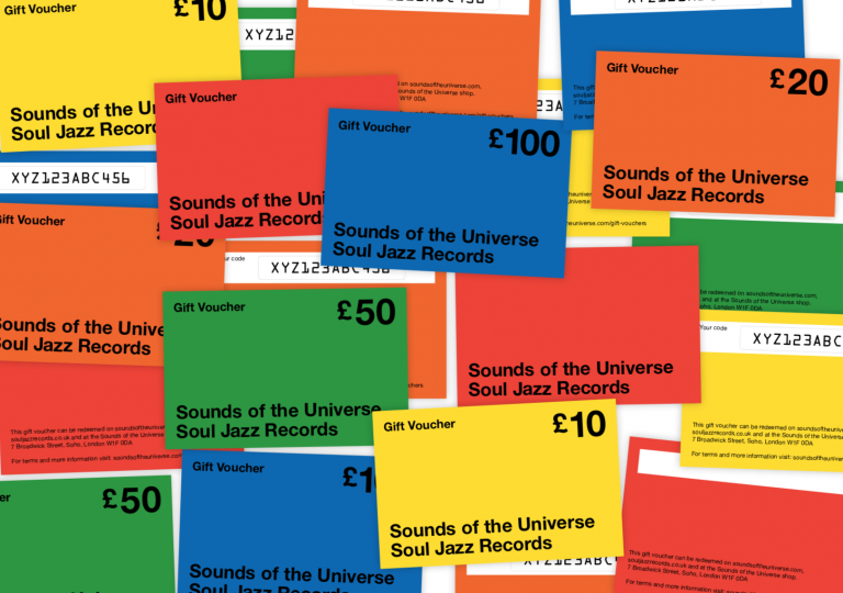 091f374f3072 Soul Jazz Records   Sounds of the Universe £10 Voucher – Voucher ...
