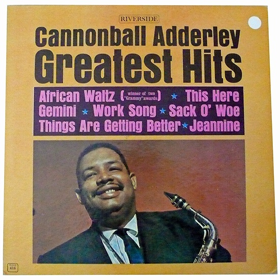 Cannonball Adderley Greatest Hits 1962